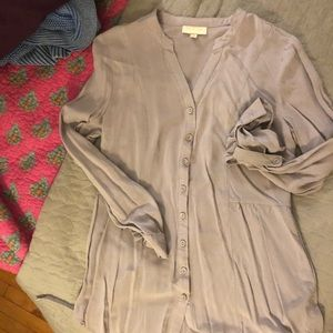 Light gray ModCloth Blouse